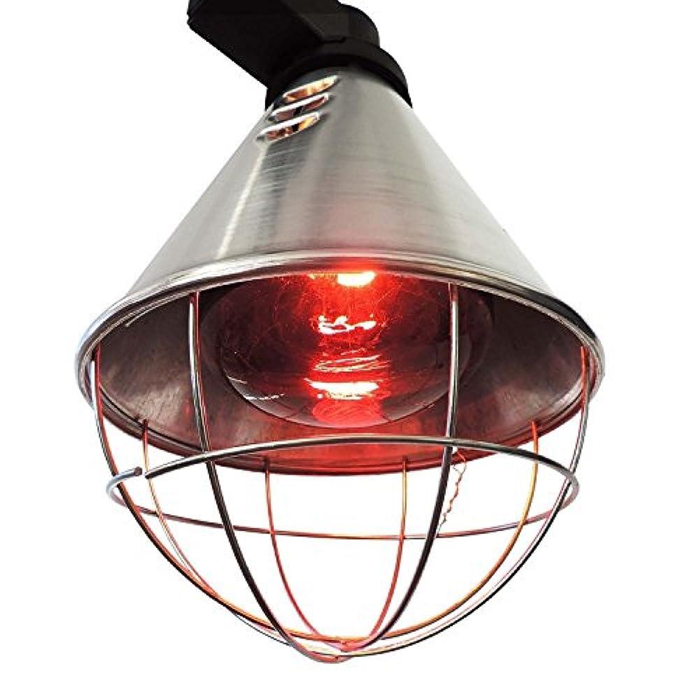 Koll Living Infrarot-Wärmestrahlgerät 150W mit / ohne Leuchtmittel , Kückenlampe, Schweinelampe (2,5 m Kabel - mit Sparschalter)