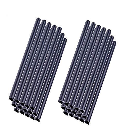 MCTECH 30 Stück Universal Befestigungsclips Klemmschienen für PVC Sichtschutzstreifen – Anthrazit