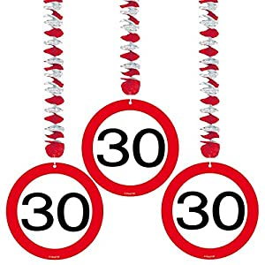 Espirales Garland St. 3 carretera signo de número 30 cumpleaños espirales Rotor