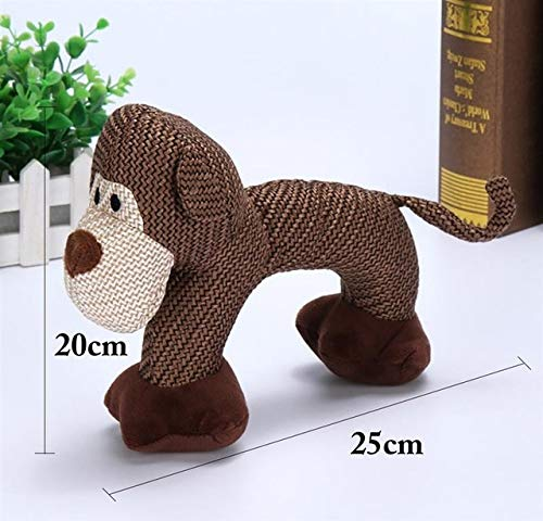 AMYY Dog Chewing Toys for Little Big Dog Bite Resistance Dog Squeaky Duck Toys Interactive Squeaky Puppy Dog Toys Pet Supplies M Monkey