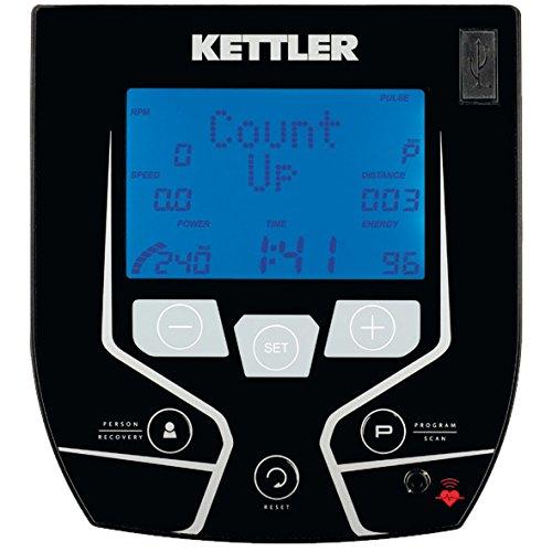 Kettler E5 - Bicicleta (Negro, Gris, Unidad de Disco/Cinta Acanalada, Horizontal)
