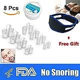 Schnarchstopper Anti Schnarch Mittel Nasendilatatoren (8 Stück) Schnarchband | Sofort Wirksam Einfach zu Benutzen Alltagshilfe