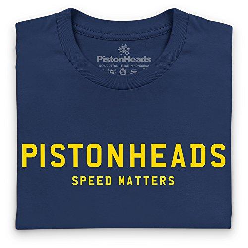 PistonHeads Speed Matters Iconic T-Shirt, Herren Dunkelblau