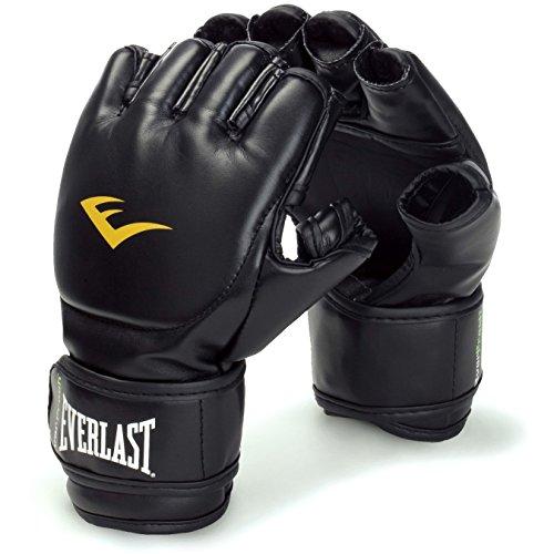 Everlast MMA-Handschuhe, für Grappling, mit Klettverschluss, Schwarz Abbildung 2