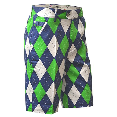Royal & Awesome Herren Shorts Herren Golf Shorts - Blues on The Greens, Blues on The Green, 36