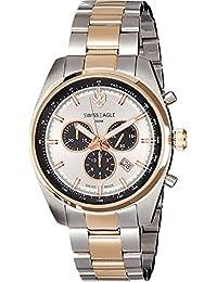Swiss Eagle Analog White Dial Men's Watch - SE-9068-33