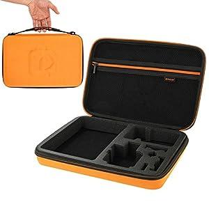 puluz imperméable de transport et étui de voyage pour GoPro Hero 4Session/4/3+/3/2/1, puluz u6000et accessoires, grande taille?: 32cm x 22cm x 7cm (Orange)