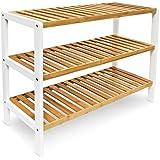 miadomodo schuhregal schuhschrank schuhablage aus bambus inkl 4 etagen und griffen mit oder. Black Bedroom Furniture Sets. Home Design Ideas