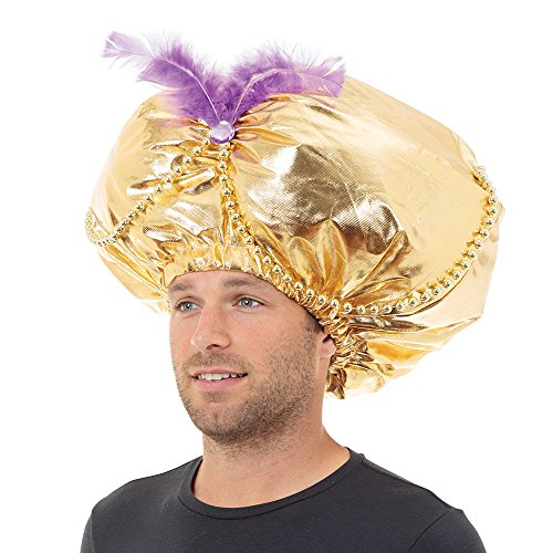Bristol Novelty bh431 Jumbo Aladdin Hat Gold, One Size