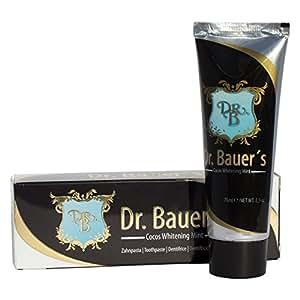 Dr. Bauers Cocos Whitening mint Zahnpasta 75ml, 2er Pack (2 x 75ml) - natürlich weiße Zähne - ohne Aktivkohle - schonend aufhellen - Kokos-Geschmack mit leichter Minze