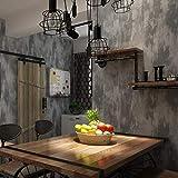 AMHD Papier Peint Tissu Non Tissé Vintage Style Industriel Mur de Ciment Papier Peint Décoration Murale pour Bars/Cafés/Restaurants 53CM*1000CM (Couleur : Gray)