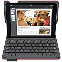 Logitech Type+ - Funda con teclado integrado para Apple iPad Air 2, texturizado, color rojo