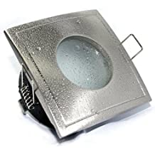 Bad Einbaustrahler AQUARIUS-S GU10 230V SMD Led 3Watt IP65 Quadratisch Eckig