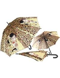 CARMANI - Paraguas manual de cierre abierto impreso con Gustav Klimt