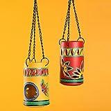 ExclusiveLane 'Two-Dabbas Of Light' Tealight Holders (Set Of 2)- Votive Candle Holders Seasonal Decorations Diyas & Lanterns Home Décor Diwali Gift