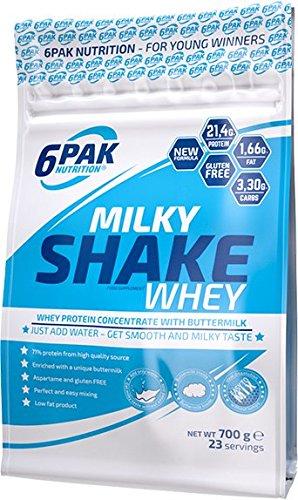6Pak Nutrition Milky Shake Whey Strawberry Whipped Creme, 1er Pack (1 x 700 g)