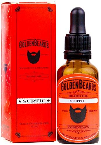 Bio Bartöl - SURTIC 30ml Öl - Das perfekte Bartöl für empfindliche Haut - Best Beard Produkte Wartung - Wir fertigen Bio Bart Öl für Männer - Wir machen Premium Beard Produkte - Dies ist ein Vegan Bart Öl - Bart Öl Argon Öl - Die Perfektes Bartöl für trockene Haut - Bartöl Feuchtigkeitscreme - Wir haben ein Bartöl mit schönem Geruch -