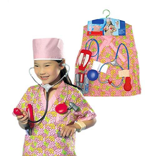 Purebesi 10 stück Kinderkrankenschwester Kostüm Spielzeug Set, Ball Show gesetzt, Kinder Bühnenspiel - 10 Home Uniform