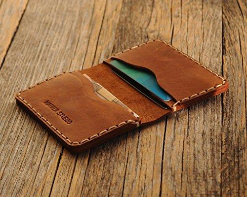 Braunes Leder Ausweishülle Geldbörse Portemonnaie, langlebige Aufbewahrung von ID, Kreditkarten und Banknoten, Kartenhülle, Lederbrieftasche, Geldtasche (Aus Geldbörse Braune Leder)