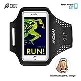 Mpow Brassard Sport iPhone 7/8/X/6/6S/5S/5/5C, Samsung Galaxy S7/S6/S5, Wiko Rainbow Jusqu'à 5.2'' - Anti-Sueur Etui Armband Noir - Porte-Clé pour Le Jogging Faire du Fitness [Garantie à Vie]
