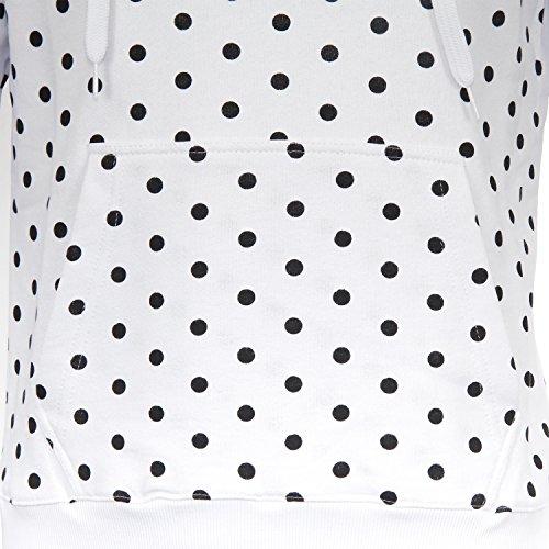 Supreme Italia Herren Kapuzenpullover Hoodie Hooded Logo Jacke Stickerei Skate Streetwear Stylisch Dope Fashion schwarz rot grau weiß Langarm Kapuze 100 % kardierte Baumwolle weiß-schwarz (dots)