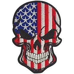 Cobra Tactical Solutions Broderie Tête de Mort Drapeau USA