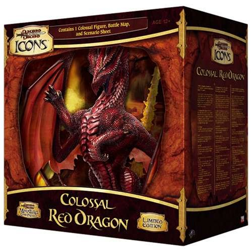 D&D Icons Colossal Red Dragon (D&D Miniatures Accessories)