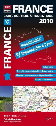 France : Carte routière & touristique indéchirable 1/1 000 000