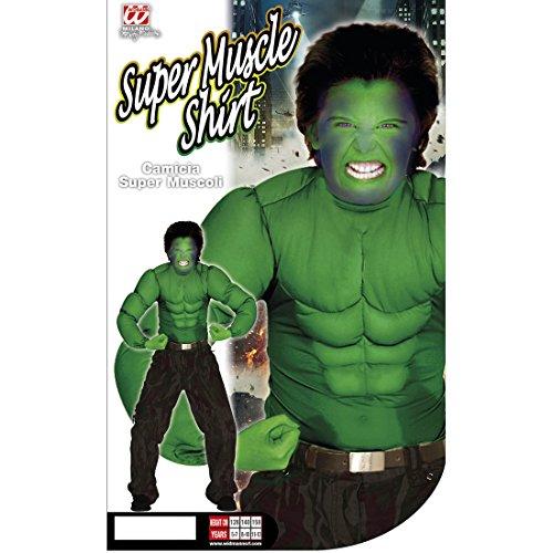 Hulk Kostüm Superhelden Kinderkostüm 128 cm 5-7 Jahre Comic Superheldenkostüm grün Muskelkostüm Monster Sixpack Muskel Shirt Halloween Verkleidung Karnevalskostüme Kinder Jungen Superheld -
