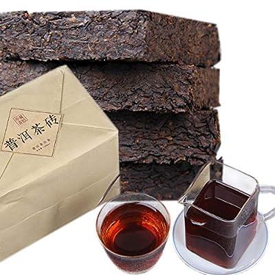 Thé Pu'er chinois 1000g ?2,2LB? Thé Puer mûr Thé noir Chennian Gancang Brique de thé Vieux arbres Pu erh thé Santé Soins Aliments