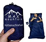 Hüttenschlafsack blau von MAX mountain