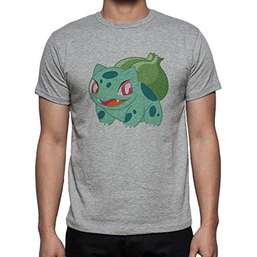 Pokemon Bulbasaur First Generation Red Eyes Herren T-Shirt Grau