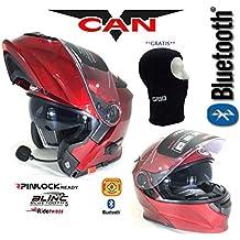 Vcan V271 BLINC Bluetooth con tapa frontal casco nuevo moto MP3 GPS FM de comunicación de