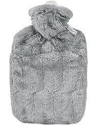 Hugo Frosch - Bouillotte avec housse duveteuse rembourrée - Couleur gris