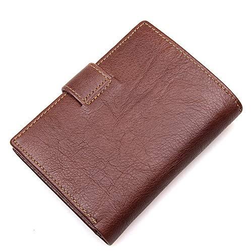 QBFED erste Schicht Rindsleder Brieftasche Multi-Card-Leder Herrenbrieftasche Retro Brieftasche RFID Anti-Scan-Schutz Brieftasche