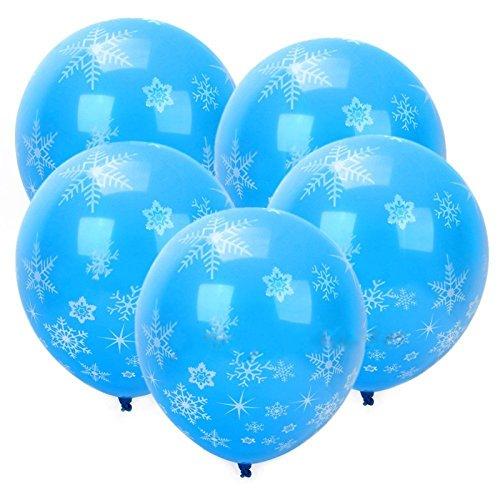 Fellibay Bblau Luftballons mit Schneeflocken Latex Luftballons für Weihnachten, Party Dekorationen 36 Stück