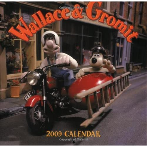 Wallace & Gromit 2009 Wall Calendar