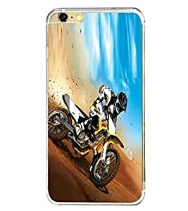PrintVisa Designer Back Case Cover for Apple iPhone 6S (Dirt Bike Ride Racing Sports Automobie)