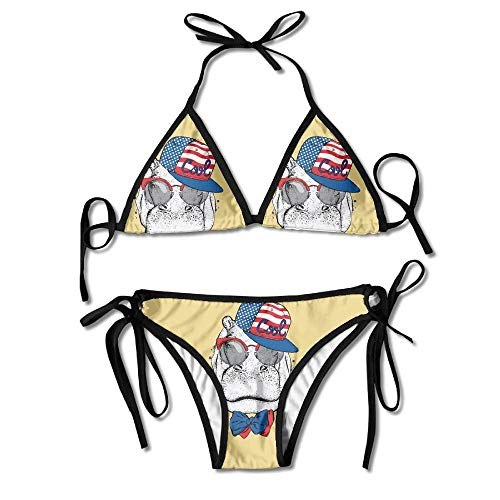 Fun Life Art Hippo Cool Sun Sonnenbrillen Sexy Bikini Bademode Badeanzug Strand Schwimmen Anzug