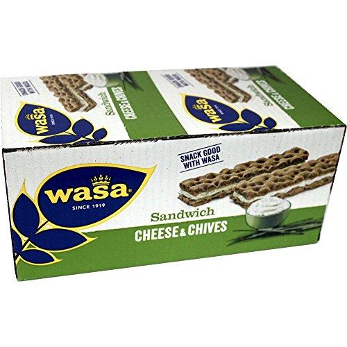 WASA Sandwich Cream Cheese & Chives, 24 x 37g (Sandwiches mit Frischkäse und Schnittlauch)