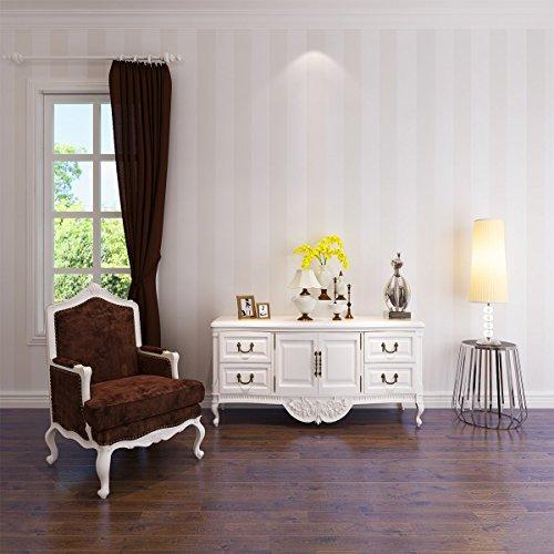 HANMERO Murales de pared 3D papel pintado rayas papel de pared dormitorios/salón/hotel/ fondo de TV /color color beige, blanco beige,0.53M*10M