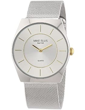Mike Ellis New York Herren-Armbanduhr XS Analog Quarz Edelstahl M1126ASM/1