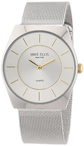 Mike Ellis New York M1126ASM/1 - Reloj analógico de cuarzo para hombre, correa de acero inoxidable color plateado