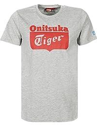 Onitsuka Tiger Hombre Logo T-Shirt, Negro