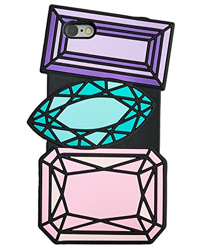 Feiern Shop Gems iPhone 6/6S Fall; Lila, Blau & Pink
