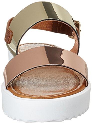 Bianco Damen Flatform Strap Sandal 21-49257 Plateausandalen Gold (Gold)