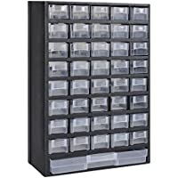 Festnight Módulo de 41 Cajones de Almacenamiento de Plástico 31 x 13,8 x 49 cm