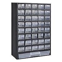 Festnight Módulo de 41 Cajones de Almacenamiento de Plástico 31 x 13,8 x...