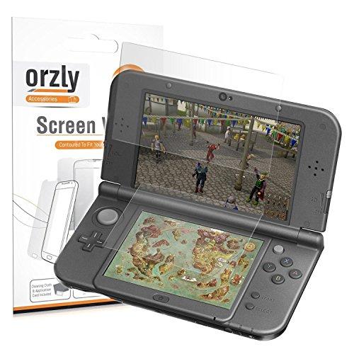 3DSXL DisplaySchutzfolien, Orzly Multipackung mit 6 Schutzfolien für 3DS XL oder NEW 3DS XL (3 pro Bildschirm) - Voll-Na show schutzfolien für Autochthonous Modell und Nue Font der Nintendo 3DS XL