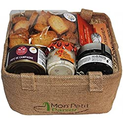 Cesta de regalo Aperitivo - Set 1 - delicatessen productos - 100% francesa